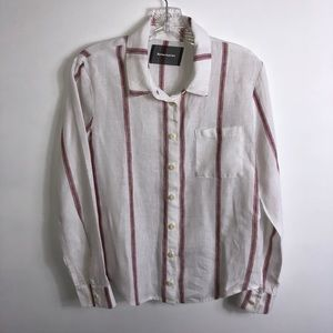 Reformation 100% Linen Blouse Shirt size Small